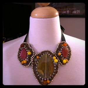 Multicolor bold statement necklace